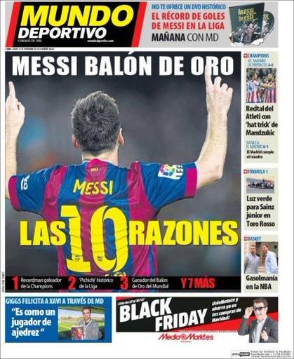 Mundo Deportivo: 10 причин, почему Лионель Месси должен получить «Золотой мяч» (фото)