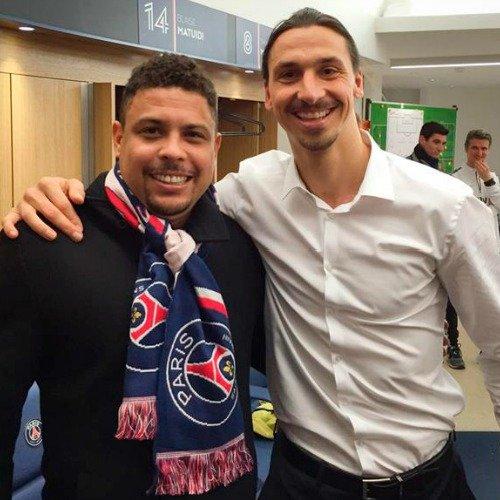 Златан Ибрагимович встретился с Роналдо (фото)